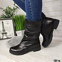Кожаные полусапожки на небольшом каблуке, фото 1