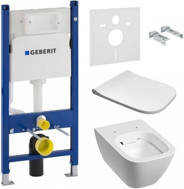 Система инсталляция GEBERIT Duofix 458.126.00.1 с унитазо KOLO Modo Remfree L33120000 и Soft Close L30112000
