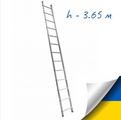 Приставна драбина алюмінієва на 13 сходинок