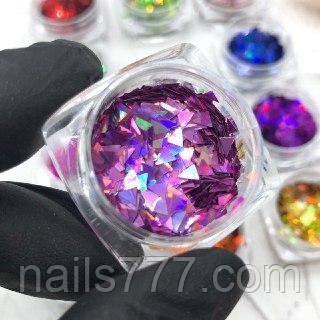 Декор Треугольники для дизайна ногтей №5