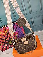 Женская сумка тройка в стиле Louis Vuitton Луи Витон ЛВ