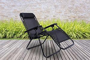 Крісло шезлонг садове лежак Zero Gravity 120 кг