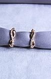 Стильні сережки фірми Xuping (color 88), фото 2