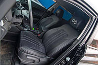 """Модельные авточехлы на Hyundai Tucson 2018 """"Экокожа+Нубук, ромбы"""" Чехлы на авто ML"""