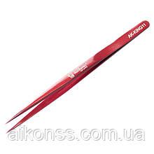 Прецизионный пинцет MECHANIC AK-KING11 King Series. Прямой , красный . Высокая прочность .