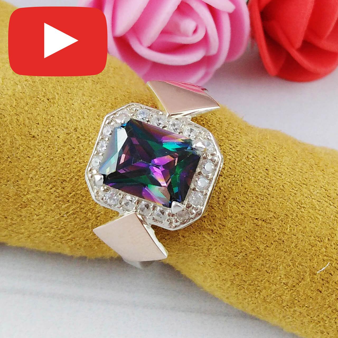 Серебряное кольцо с золотыми вставками размер 18  500/мис к