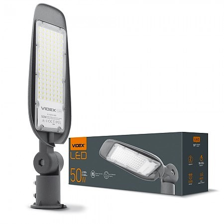 Консольный LED светильник VIDEX (поворотный) 50W Серый IP65