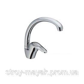 Однорычажный смеситель для кухни хром высокий излив латунь Haiba Magic 011