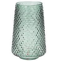 Ваза стеклянная зеленая Флора 27 см