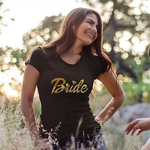 """Футболки с принтом на девичник """"Bride"""""""