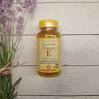 Puritan's Pride Vitamin E 184 mg with Selenium 50mcg 100 softv, витамин Е + селен, фото 1