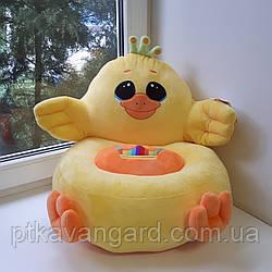 Детское мягкое кресло игрушка желтый Цыплёнок 40х40х40 см С 31197