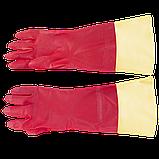 Рукавиці побутові з подовженою ПВХ-манжетою (Перчатки бытовые с удлиненной ПВХ-манжетой), фото 2