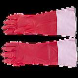 Рукавиці побутові з подовженою ПВХ-манжетою (Перчатки бытовые с удлиненной ПВХ-манжетой), фото 4