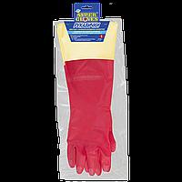 Рукавиці побутові з подовженою ПВХ-манжетою (Перчатки бытовые с удлиненной ПВХ-манжетой) XL