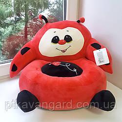 Детское мягкое кресло игрушка красная Божья коровка 40х40х40 см С 31196