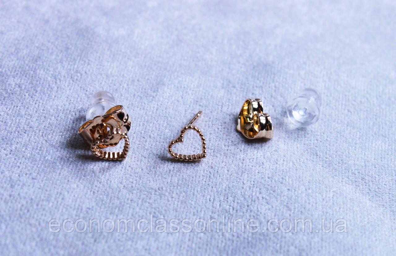 Милі сережки-сердечка фірми Xuping(color 11)