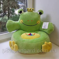 Детское мягкое кресло игрушка зеленая Лягушка 40х40х40см С 31198