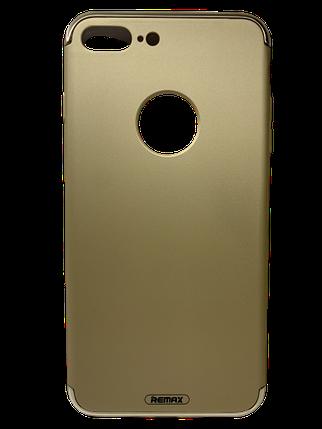 Чехол-накладка Remax Lock Series Case для Apple iPhone 7 Plus Золотистый, фото 2