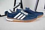 Кроссовки мужские из нубука синего цвета, фото 2