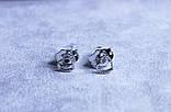 Милі сережки - сердечка фірми Xuping (Rhodium color 11), фото 3