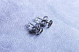 Милі сережки - сердечка фірми Xuping (Rhodium color 11), фото 4
