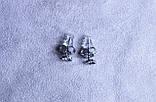 Милі сережки - сердечка фірми Xuping (Rhodium color 11), фото 5