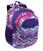 Школьный стильный рюкзак для девочки, Фиолетовый, ортопедическая спинка 40*29см
