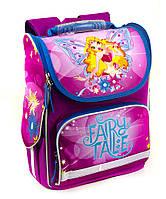 Школьный рюкзак короб для девочек Сказка с Феями, розовый, ортопедическая спинка 35*25см
