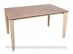 Стол обеденный LIVERPOOL S (140(2*45)/230*85*75cmH) керамика капучино глянец, Nicolas