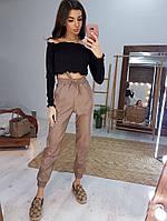 Молодежные женские брюки большие размеры экокожа СЕР2.1554, фото 1