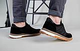 Кроссовки мужские кожаные черные с вставками замши, фото 6