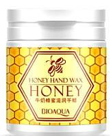 Питательная ,восстанавливающая маска-пленка с экстрактом меда BioAqua Honey Hand Wax