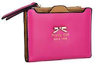 """Темно-розовый женский кошелек из искусственной кожи """"Бантик"""", фото 1"""