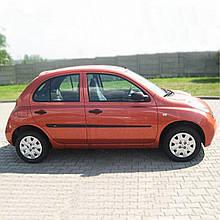 Молдинги на двери для Nissan Micra K12 5 Door 2002-2010