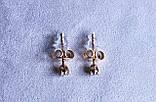 Сережки - гвоздики фірми Xuping(color 3), фото 2