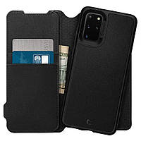 Чехол - Книжка Spigen для Samsung S20 Plus, Wallet Brick (ACS00773), фото 1