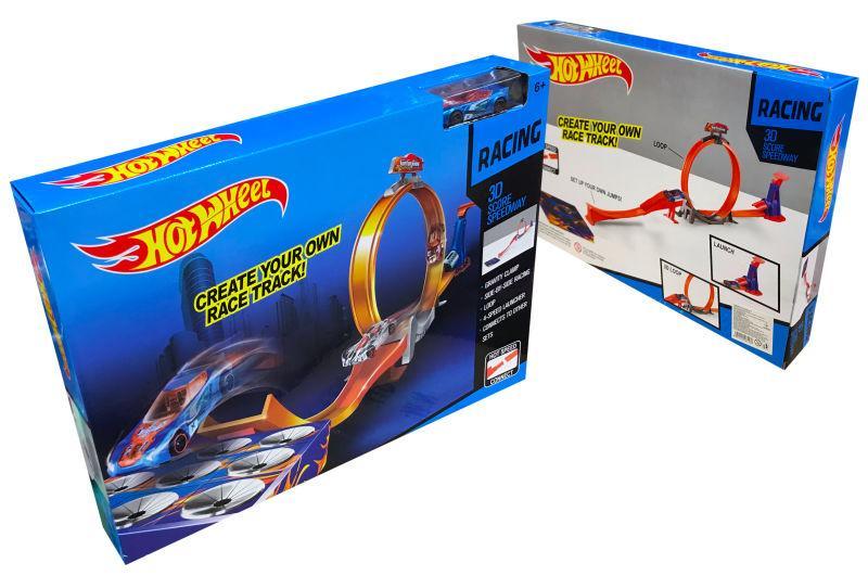Трек Hot wheel 9988-31A, автотрек хот вилс петля с машинкой