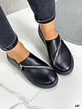 Женские туфли / слипоны черные с молнией натуральная кожа, фото 2