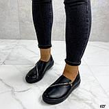 Женские туфли / слипоны черные с молнией натуральная кожа, фото 5