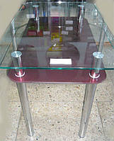 Кухонный стол из стекла