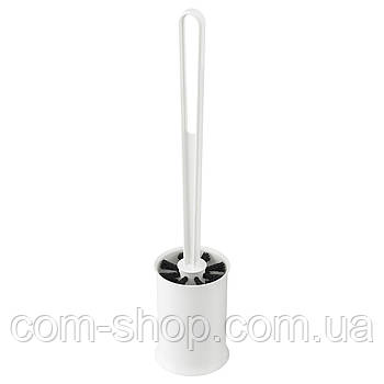 Щетка для унитаза IKEA, ершик напольный для чистки туалета, белый