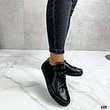 Кроссовки / кеды женские черные натуральная кожа, фото 2