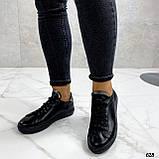 Кроссовки / кеды женские черные натуральная кожа, фото 6