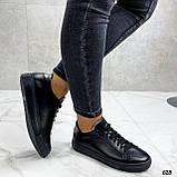 Кроссовки / кеды женские черные натуральная кожа, фото 3
