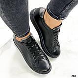 Кроссовки / кеды женские черные натуральная кожа, фото 4