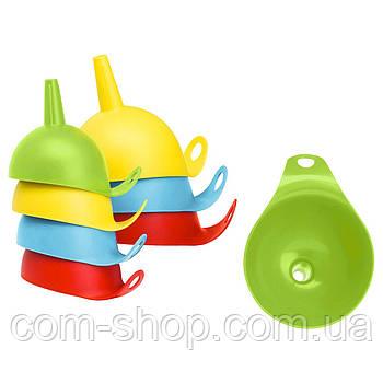 Набор воронок IKEA, лейка бытовая, кухонная, пластиковая, 2 штуки, разные цвета