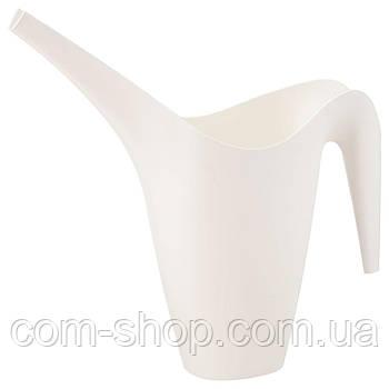 Лейка для сада IKEA, садовых цветов, пластиковая, 1.2 л, белый