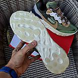 Мужские кроссовки Nike React Element  'Undercover' хаки демисезонные осень весна. Живое фото. Топ реплика ААА+, фото 3