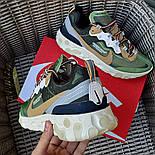 Мужские кроссовки Nike React Element  'Undercover' хаки демисезонные осень весна. Живое фото. Топ реплика ААА+, фото 4